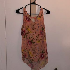 old navy floral print tank